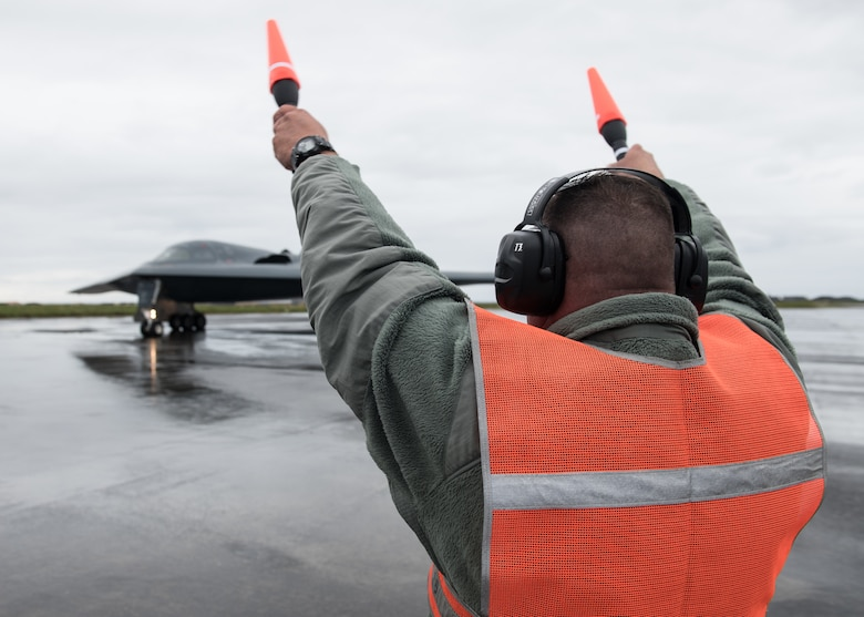 B-2 Spirit lands at Naval Air Station Keflavik, Iceland