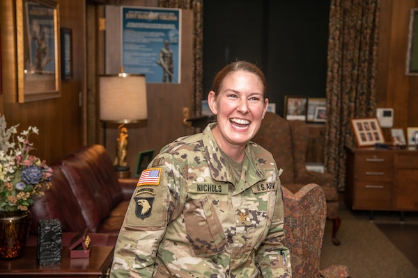 Commander of the West Virginia National Guard's Army Interagency Training and Education Center (AITEC) Chemical, Biological, Radiological, Nuclear, and High Yield Explosive (CBRNE) Battalion, Gina Nichols, was promoted to lieutenant colonel at Joint Force Headquarters in Charleston, West Virginia, Aug. 27, 2019.
