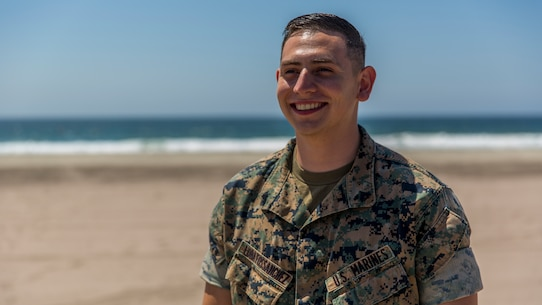 """""""I am honored that the Marines around me believe in me. It is because of them that I keep pushing to be better,"""" LobatosSanchez said."""