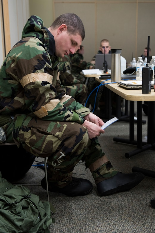 Tech. Sgt. Jacob Bixler, a radio frequency transmissions systems craftsman for the 167th Airlift Wing, West Virginia Air National Guard, participated in an operational readiness exercise recently. He is also a major in the Civil Air Patrol serving as the Wing Director of Cadet Programs for Virginia Wing.