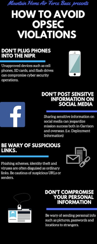 U.S. Air Force graphic details the importance of cyber security.