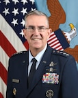 U.S. Air Force, Gen. John E. Hyten, 11th Vice Chairman, Joint Chiefs of Staff, poses for a command portrait in the Army portrait studio at the Pentagon in Arlington, Va., Nov. 27, 2019.