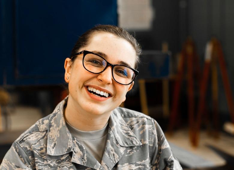 Senior Airman Annie VanArman works in the 110th Logistics Readiness Squadron as a Vehicle Maintenance Journeyman at Battle Creek Air National Guard Base, Mich., Oct. 26, 2019.
