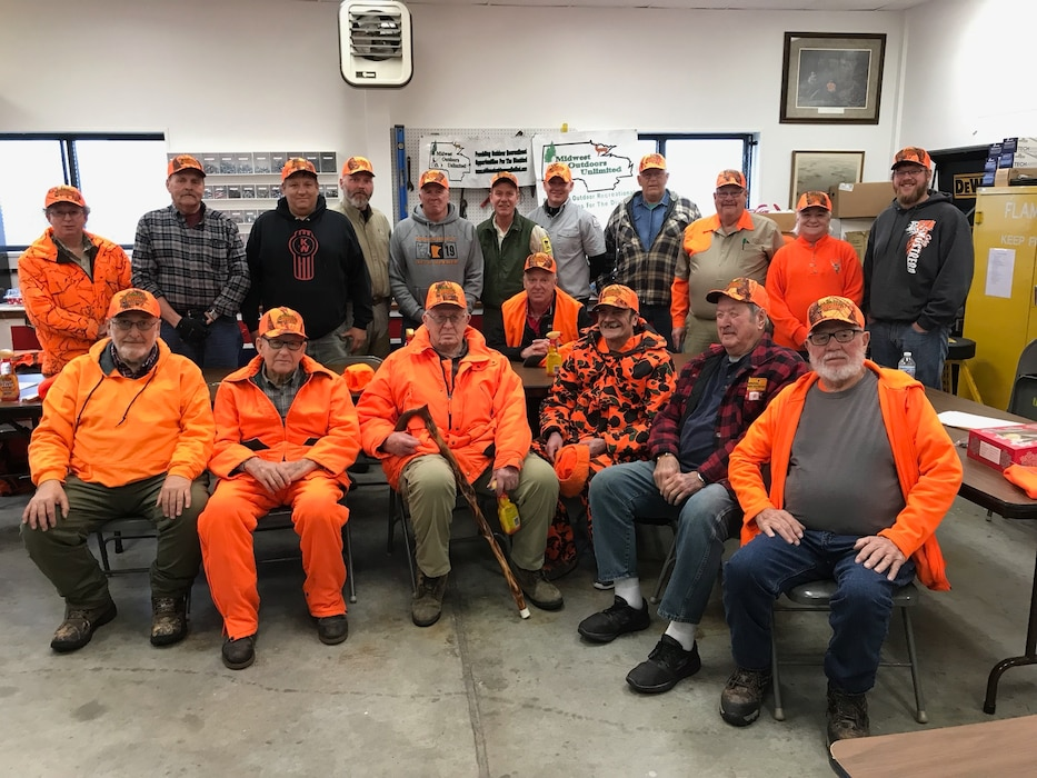 Hunters and volunteers at Orwell Dam wildlife sanctuary in Fergus Falls, Minnesota for a deer hunt on Nov. 23