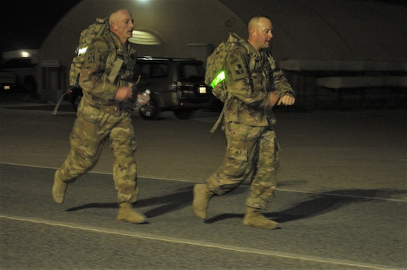 Norwegian Foot March at Camp Arifjan