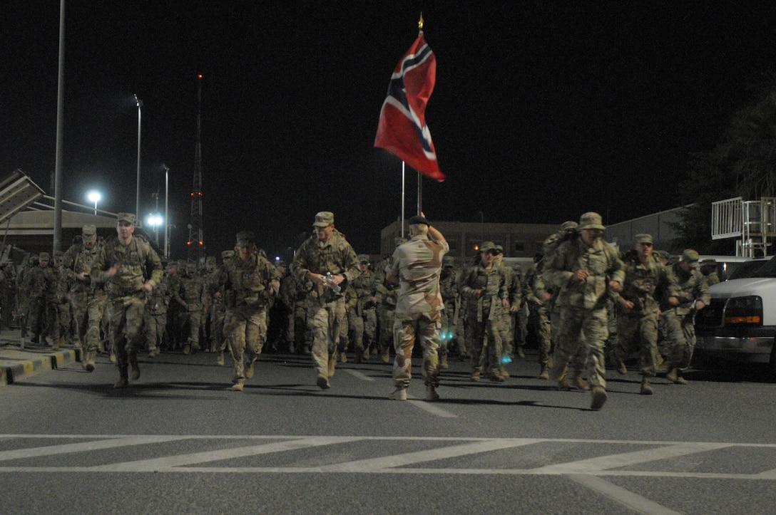 Norwegian Foot March at Camp Arifjan
