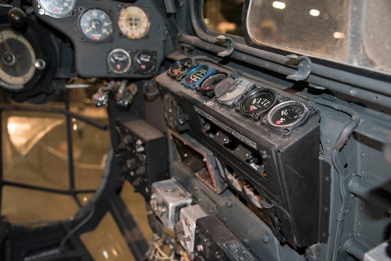 Junkers Ju 88D cockpit view.