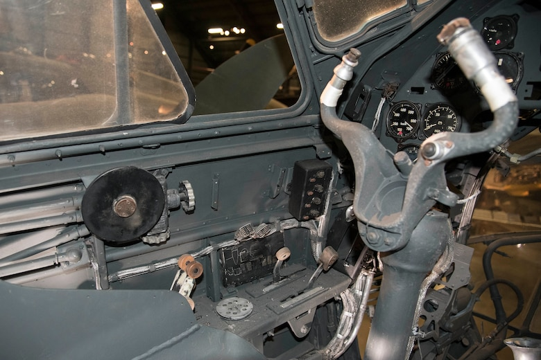 Junkers Ju 88D cockpit view.