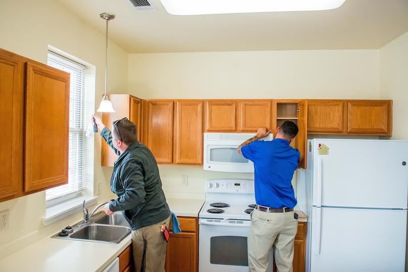 Inspectors inspect home.