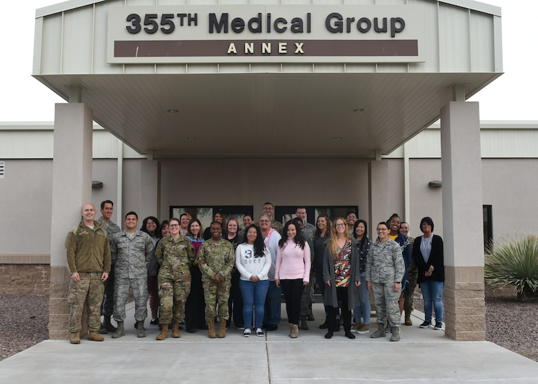 Group photo of Davis-Monthan Air Force Base Mental Health clinic personnel