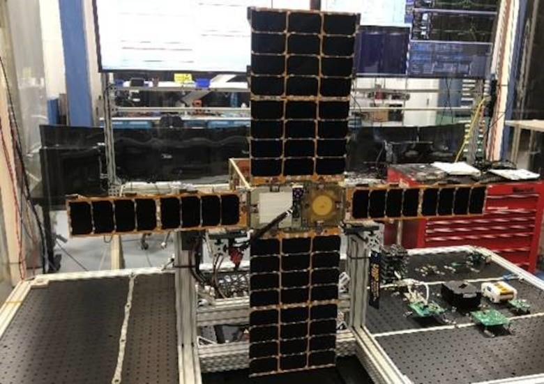 Photo of the Very Low Frequency Propagation Mapper (VPM) satellite