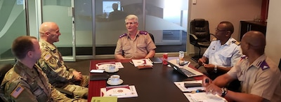 NY Guard chaplains meet with South African counterparts