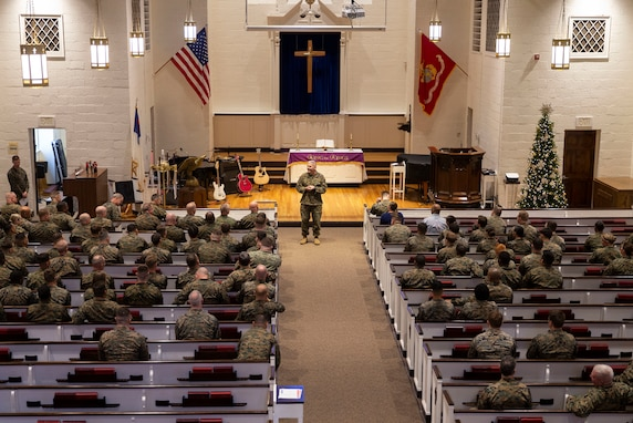 Chaplain of the Marine Corps visits Marine Corps Base Camp Lejeune