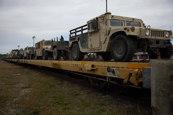 Vehicles arrive home from MWX