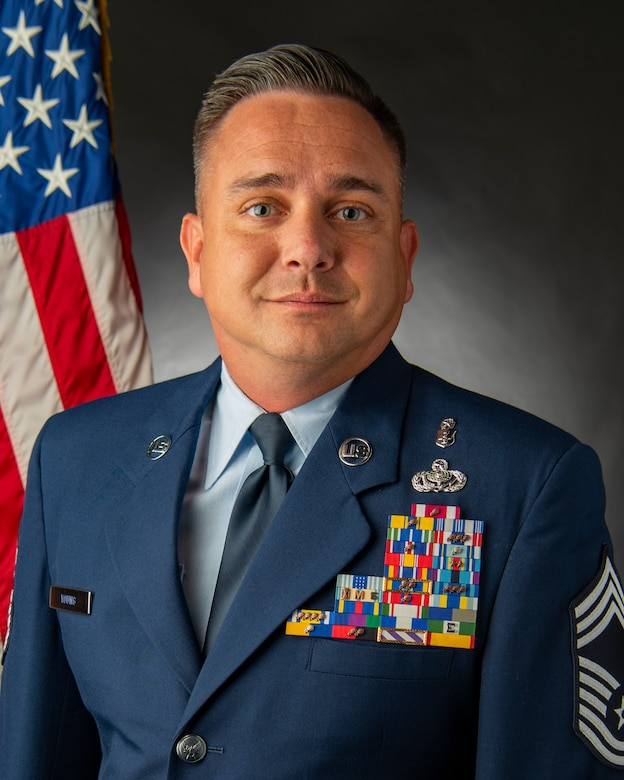 Official photo of Chief Master Sgt. Jason Young