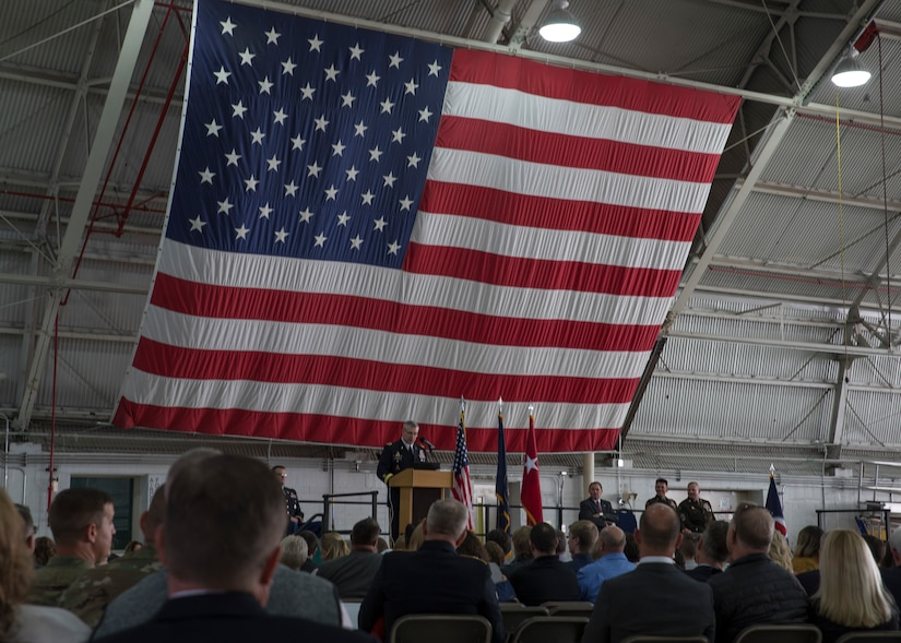 The Utah National Guard hosted a change-of-command and retirement ceremony for its top general officer and commander, the Adjutant General, Maj. Gen. Jeff Burton, at Roland R. Wright Air National Guard Base, Nov. 7, 2019.