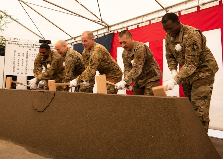 Yokota breaks ground for AFSOC Airfield Apron