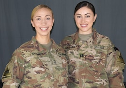 Meet the Gallardo sisters, Master Sgt. Eliana Y. Gallardo, operations noncommissioned officer in charge, and Capt. Carla J. Gallardo, operations officer, 1st Armored Division Sustainment Brigade Resolute Sustainment Support Brigade, (1AD RSSB), who are now deployed together to Afghanistan supporting Operation Resolute Support.
