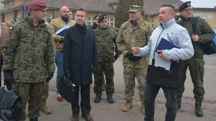 Polish Under-Secretary of National Defence visits Soldiers in Poznan