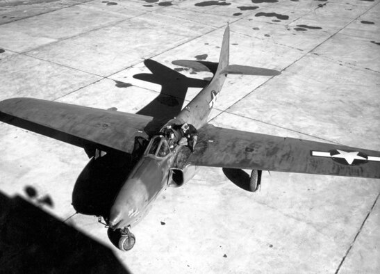 XP-59A Airacomet America's First Jet Aircraft - 1943 — at Edwards Air Force Base.