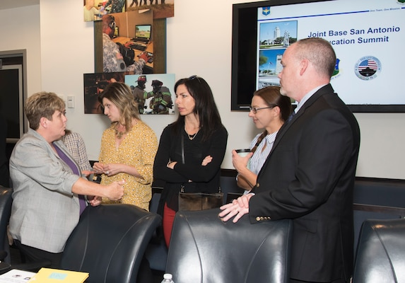 A group of 29 Joint Base San Antonio members and parents discussed and brought forth ideas on how to address educational issues and challenges experienced by military school-age children and their families during a meeting at 502nd Air Base Wing Headquarters at JBSA-Fort Sam Houston Nov. 26.