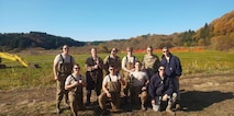 The 35th Civil Engineer Squadron explosive ordnance disposal team, pauses for a photo with his in Aomori Prefecture, Japan, November 10, 2019. Initial success or total failure is the EOD motto. EOD technicians train to detect, disarm, detonate and dispose of explosive threats all over the world. (Courtesy photo)