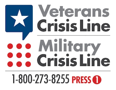 The Veterans and Military Crisis Line number is 1-800-273-8255, then press 1.