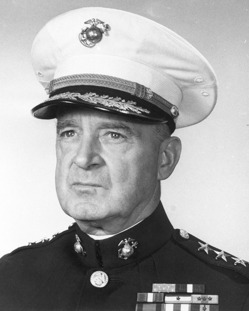 Marine Corps Maj. Gen. Alexander Vandegrift head shot.