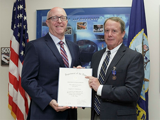 NUWC Headquarters engineer receives Meritorious Civilian Service Award