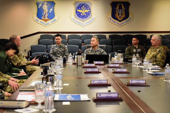 JASDF ASC commander visits AMC and TRANSCOM