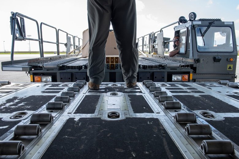 An Airman with the 374th Logistics Readiness Squadron