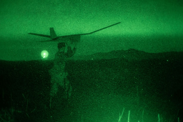 Pendleton Marines launch RQ-20 Puma in support of Operation Buck Rogers