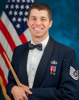 Official photo of Technical Sergeant Matthew Penland, Percussionist with The .United States Air Force Band, Joint Base Anacostia-Bolling, Washington, D.C.