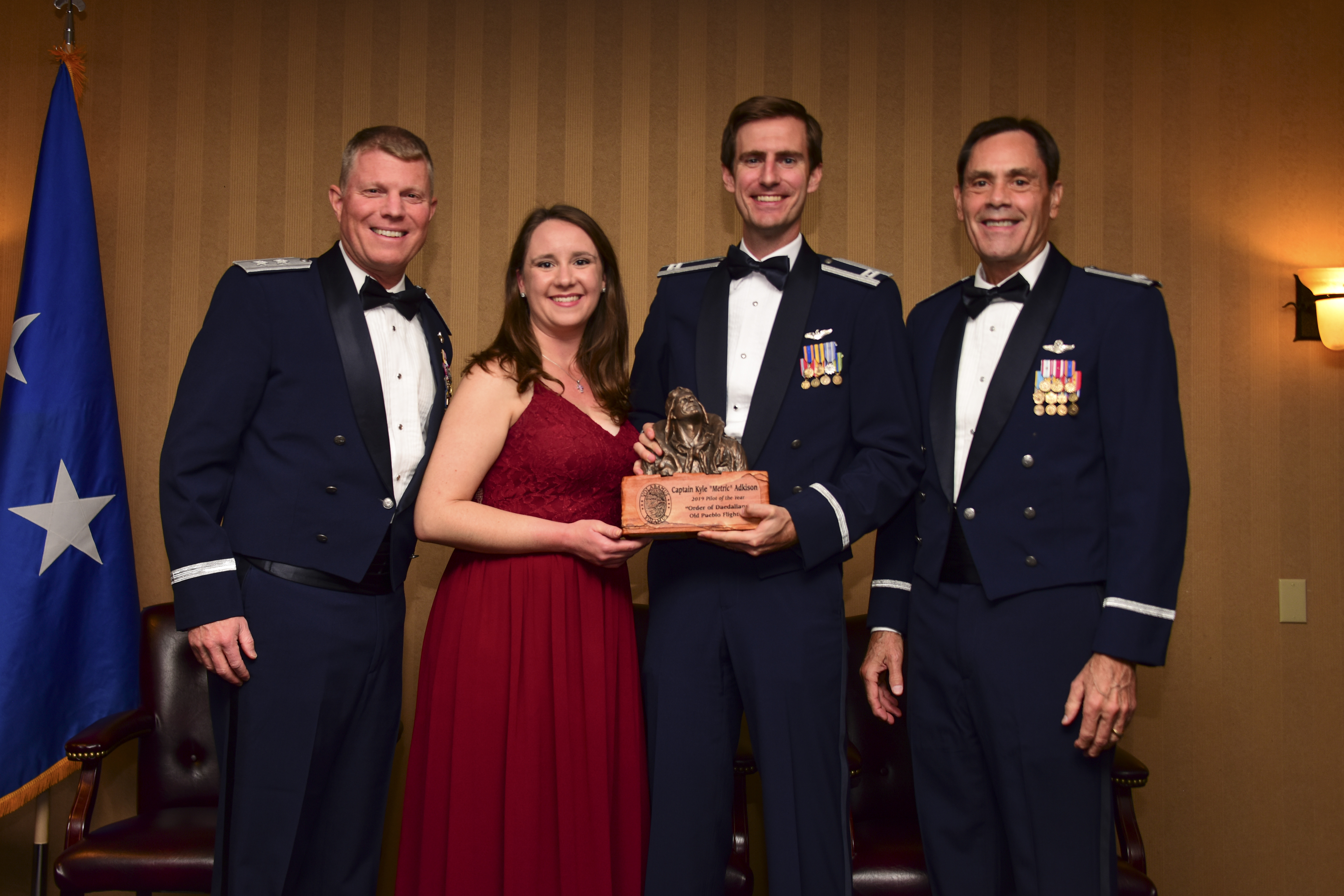 An image of Capt Lozano, the 2018 Pilot of the Year.
