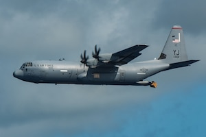 A C-130J Super Hercules assigned to the 36th Airlift Squadron,
