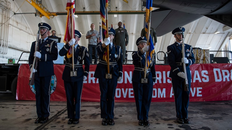 Members of the 36th Wing base honor guard