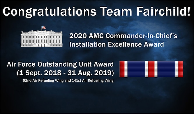 "Fairchild awarded AMC nomination for 2019 CINC IEA award….earns ""Honorable Mention"" at Air Force level"