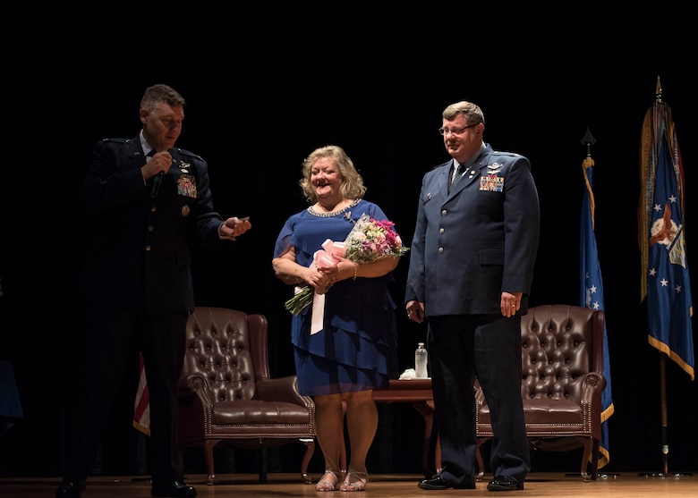 Col. Gregory S. Gilmour, outgoing Commander of the 315th Airlift Wing at JB Charleston, retired after 33 years of service across the U.S. Air Force Reserve and U.S. Navy at his retirement ceremony December 8, 2019, at JB Charleston.