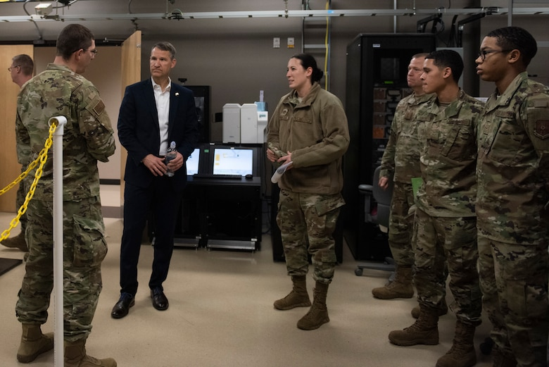 Marion visited the base as part of a familiarization tour of Air Force Global Strike Command bases.