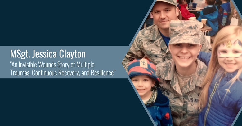 Master Sgt. Jessica Clayton and her family. (Courtesy Photo)
