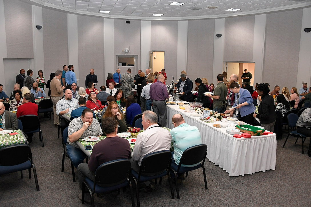 The annual Holiday Pancake Breakfast allows staff members to enjoy some social time together as well as a good meal.