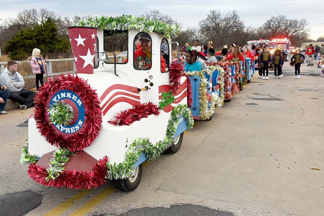 An image from the Tinker holiday parade.