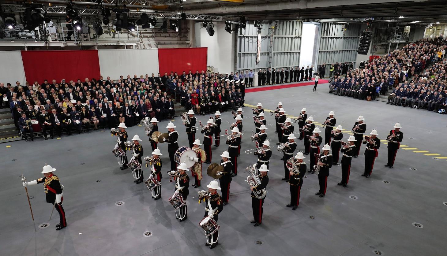 U.S. Sixth Fleet Commander Witnesses HMS Prince of Wales Commissioning