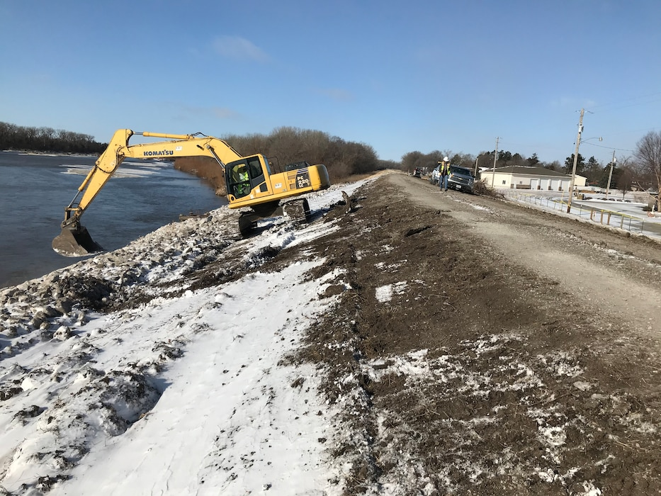 The USACE team conducted a site visit at the Columbus Levee repair site on December 9, 2019. Work on this project is progressing and is anticipated to be complete by the end of the calendar year.