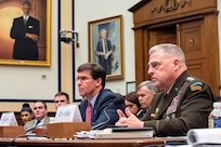 Army Gen. Mark A. Milley, chairman of the Joint Chiefs of Staff, on Capitol Hill during a House Armed Service Committee hearing on Syria and Middle East policy, Washington D.C., Dec. 11, 2019.