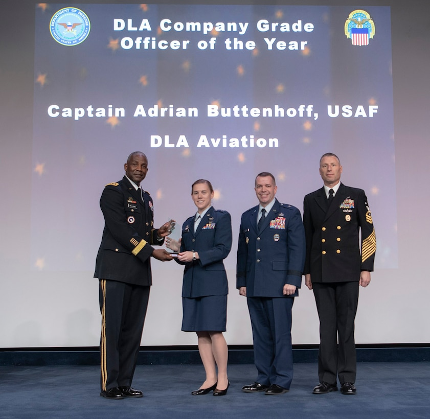 Buttenhoff honored during DLA Annual Employee Recognition Awards