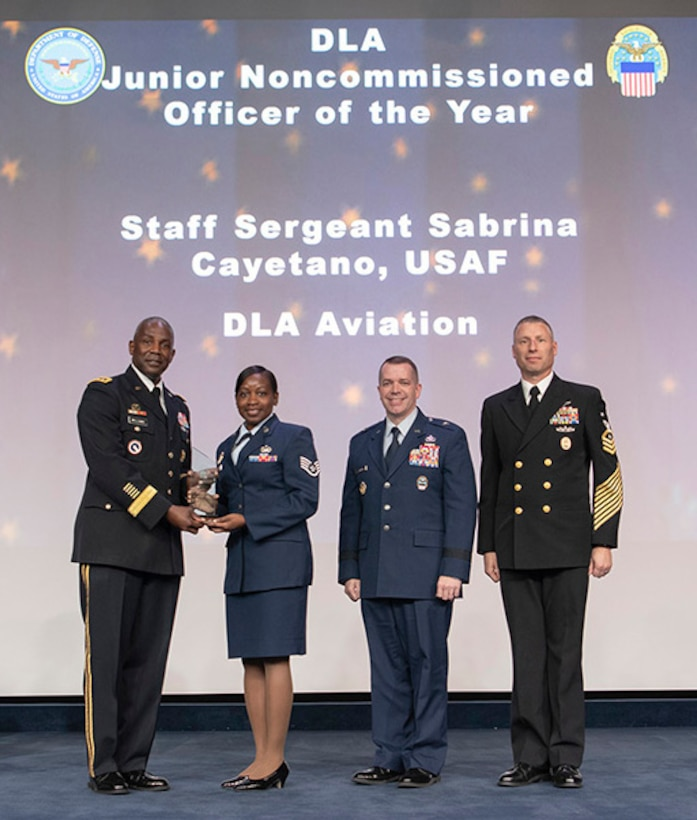 Cayetano honored as DLA's NCO of the Year