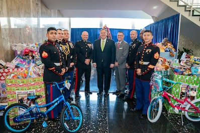 State Department Recognized for Toys For Tots Support