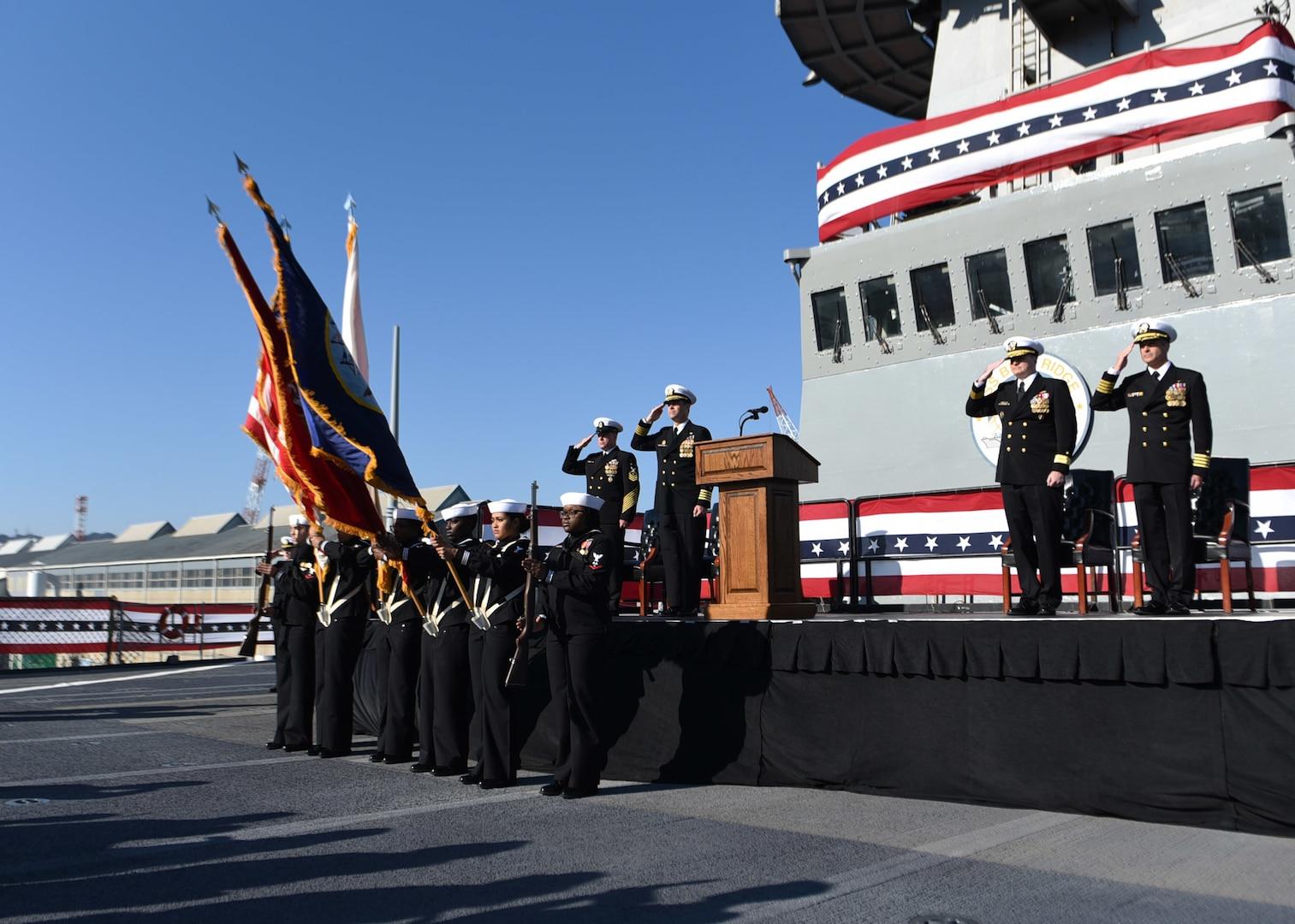 Sicola Takes Command of 7th Fleet Flagship USS Blue Ridge