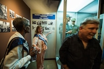 The women of flight W039, 3707th Squadron, of 1979, tour the Security Forces Museum Foundation, Oct. 18, 2019, at Joint Base San Antonio-Lackland, Texas.